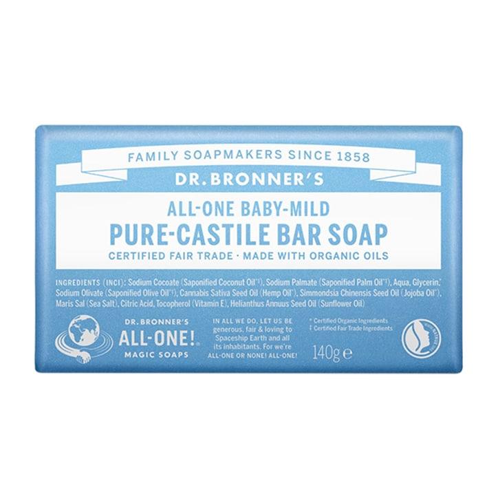 Dr Bronner's - All-One Baby-Mild Pure-Castile Bar Soap 140g