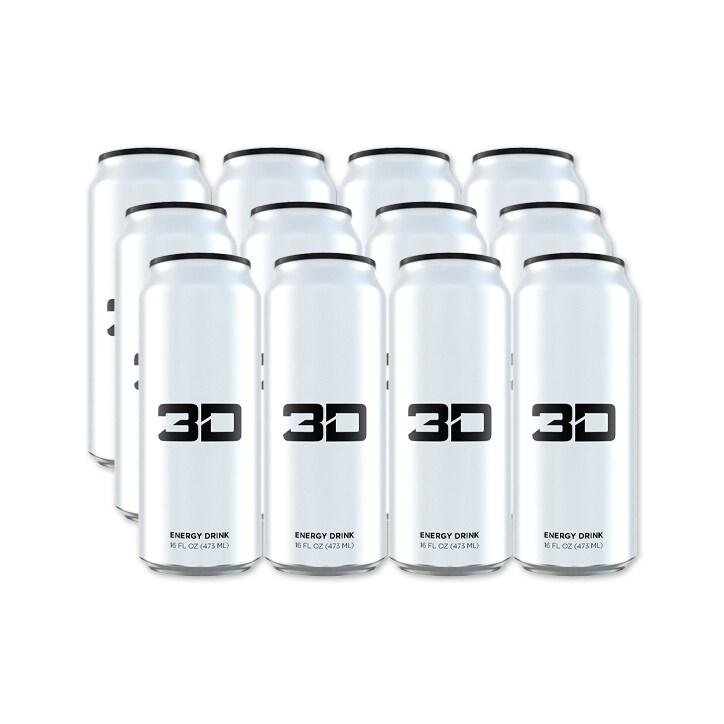 3D Energy White Box 12 x 473ml