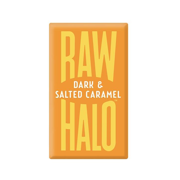 Raw Halo Vegan Dark & Salted Caramel Raw Chocolate 22g