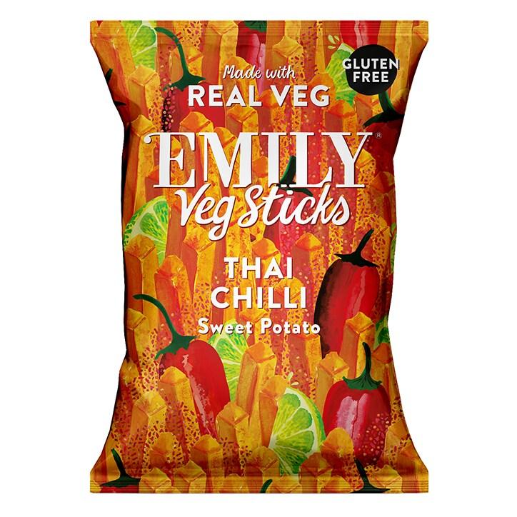 Emily Veg Sticks Thai Chilli Sweet Potato 35g