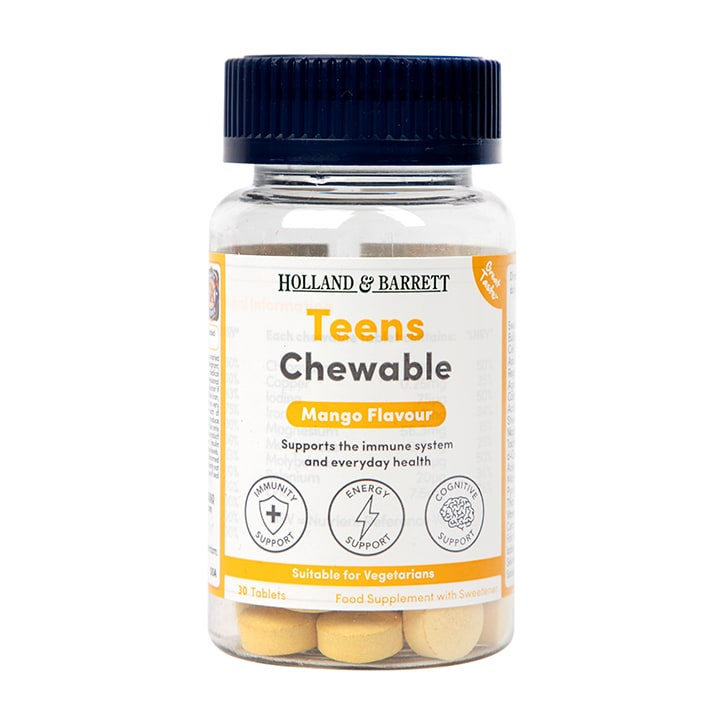 Holland & Barrett Teens Chewable Mango Flavour 30 Tablets