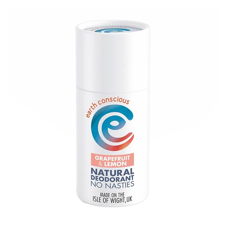 Earth Conscious Natural Deodorant Stick - Grapefruit & Lemon 60g