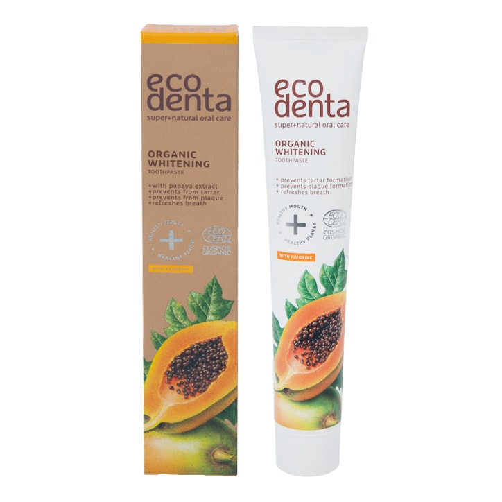 Ecodenta Organic Whitening Toothpaste with Papaya Extract 75ml