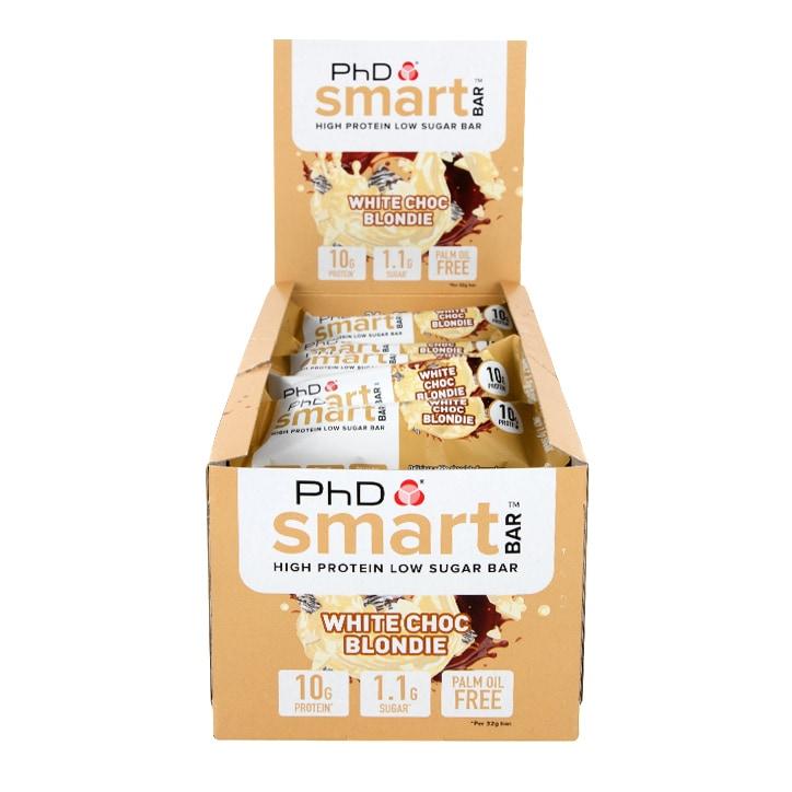 PhD Smart Bar Mini White Chocolate Blondie 24 x 32g
