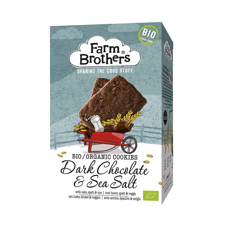Farm Brothers Dark Chocolate & Sea Salt Cookies 150g