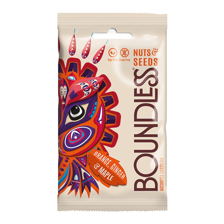 Boundless Activated Nuts & Seeds Orange, Ginger & Maple 30g
