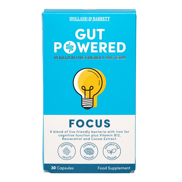Holland & Barrett Gut Powered Focus 30 Capsules