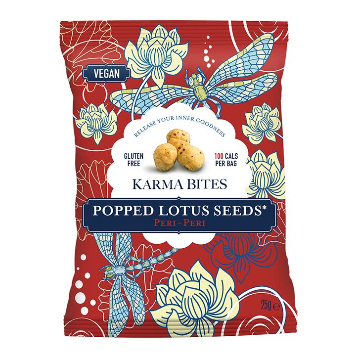 Karma Bites Popped Lotus Seeds Peri-Peri 25g