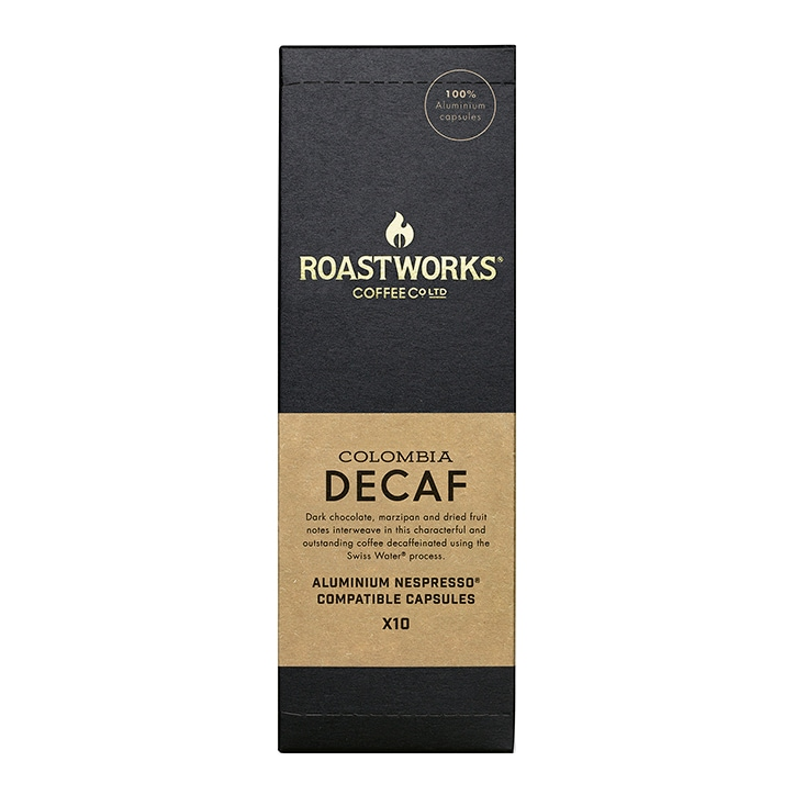 Roastworks Coffee Co Ltd. Decaf Colombia Nespresso Compatible Capsules 55g