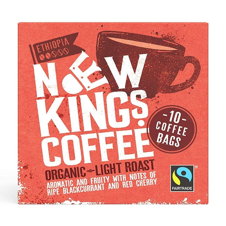 New Kings Coffee Organic Light Roast Coffee Bags 80g