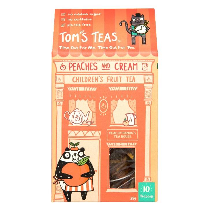 Tom's Teas Children's Tea (Hot or Cold Brew) Peaches & Cream 10x bags