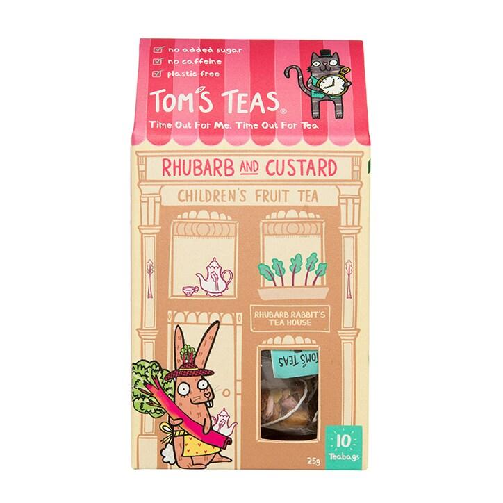 Tom's Teas Children's Tea (Hot or Cold Brew) Rhubarb & Custard 10x bags
