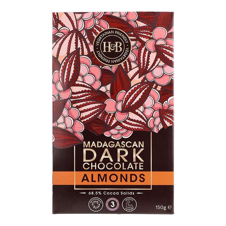 Holland & Barrett Madagascan Dark Chocolate Almonds 150g