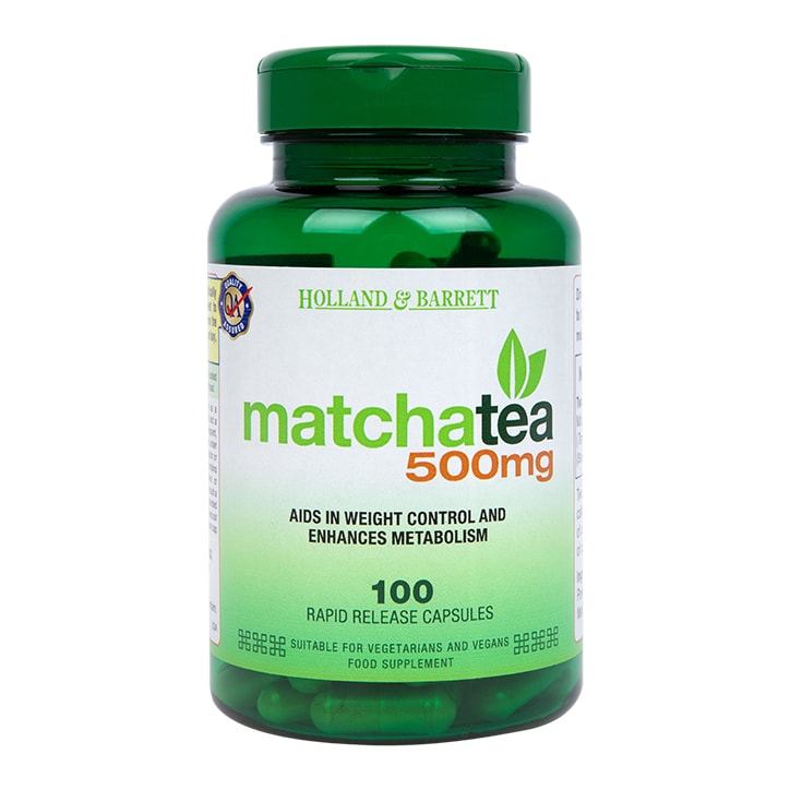 Holland & Barrett Matcha Tea 500mg 100 Capsules