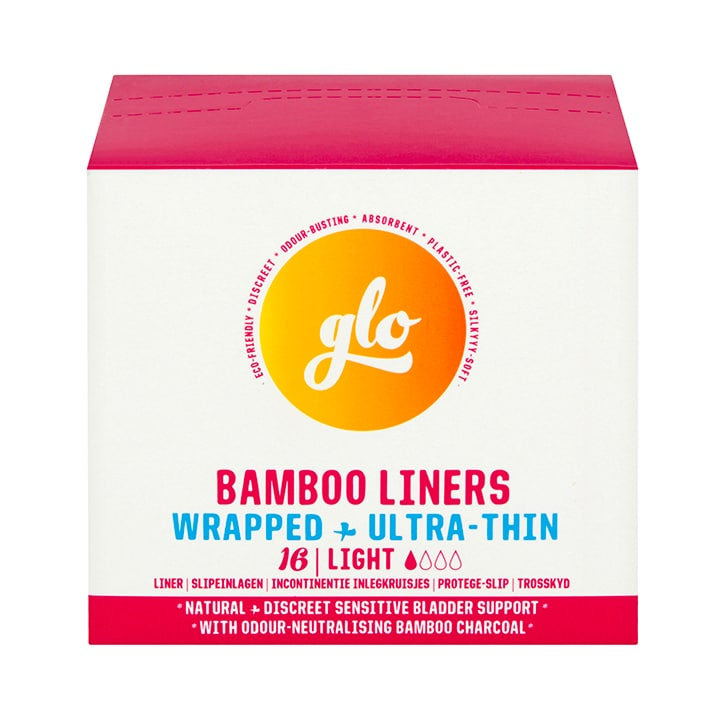 glo Bamboo Liners for Sensitive Bladder 16 pack
