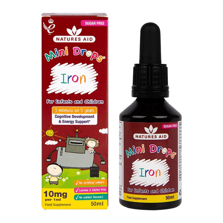Natures Aid Mini Drops Iron voor Baby's en Kinderen (50ml)