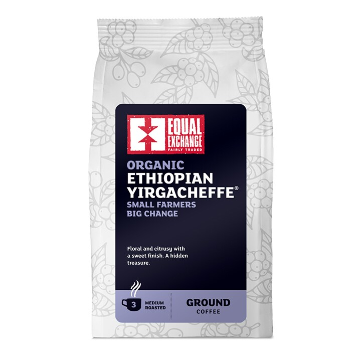 Equal Exchange Roast Ground Ethiopian Yirgacheffe Coffee 227g