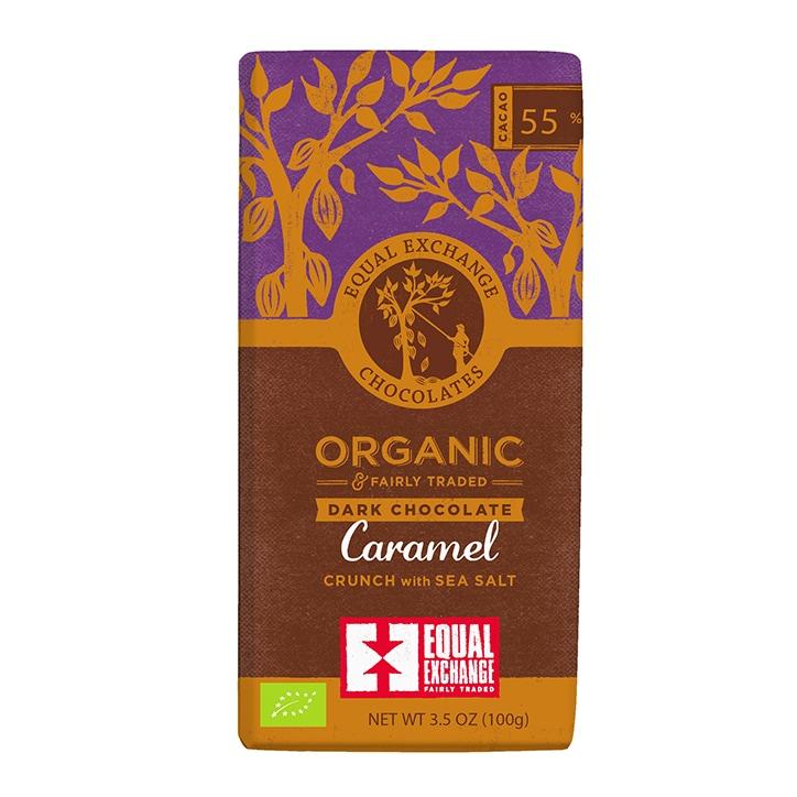 Equal Exchange 55% Dark Chocolate - Caramel Sea Salt 100g