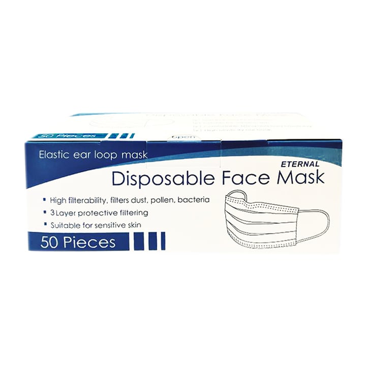 Disposable Face Masks - 3 Layer - 50 Pack