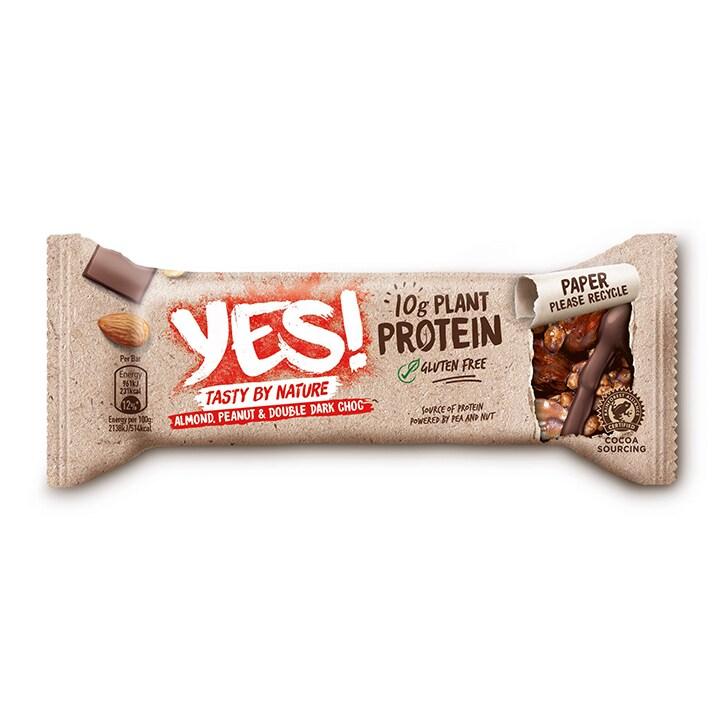 YES! Protein Almond, Peanut & Double Dark Choc 45g