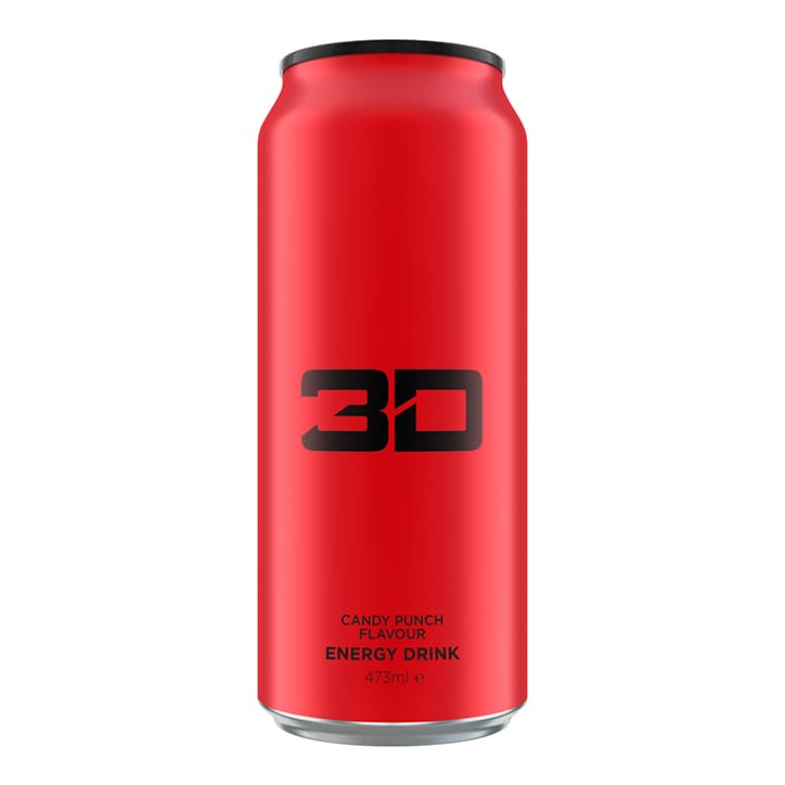3D Energy Red Candy Punch 473ml