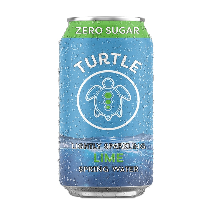 Turtle Lime Lightly Sparkling Spring Water 330ml