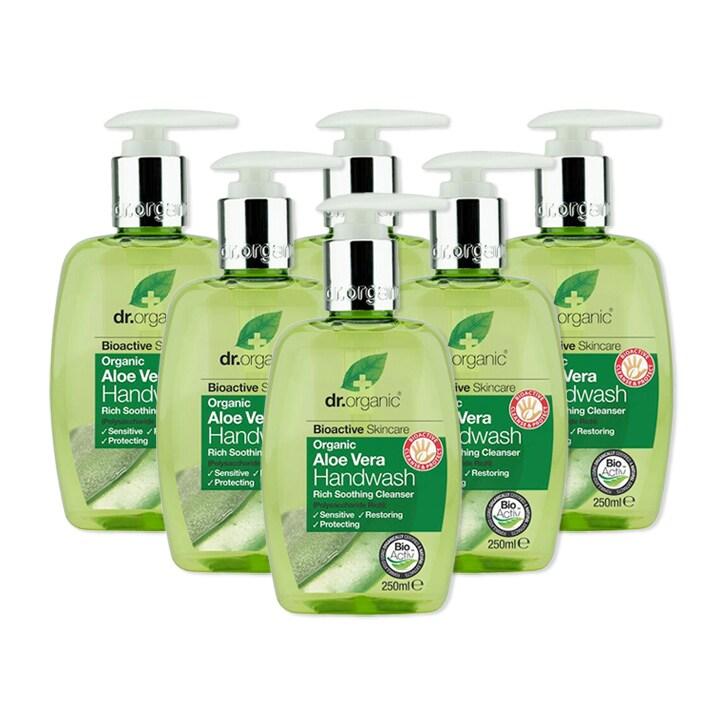 Dr Organic Aloe Vera Handwash Bundle 6 x 250ml