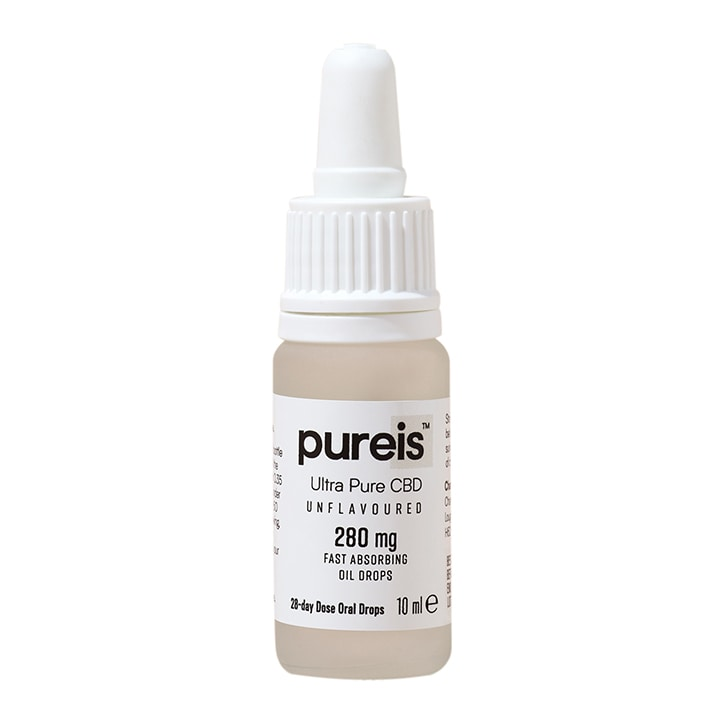 Pureis® Ultra Pure CBD Fast Absorbing Oil 280mg Unflavoured Oral Drops 10ml