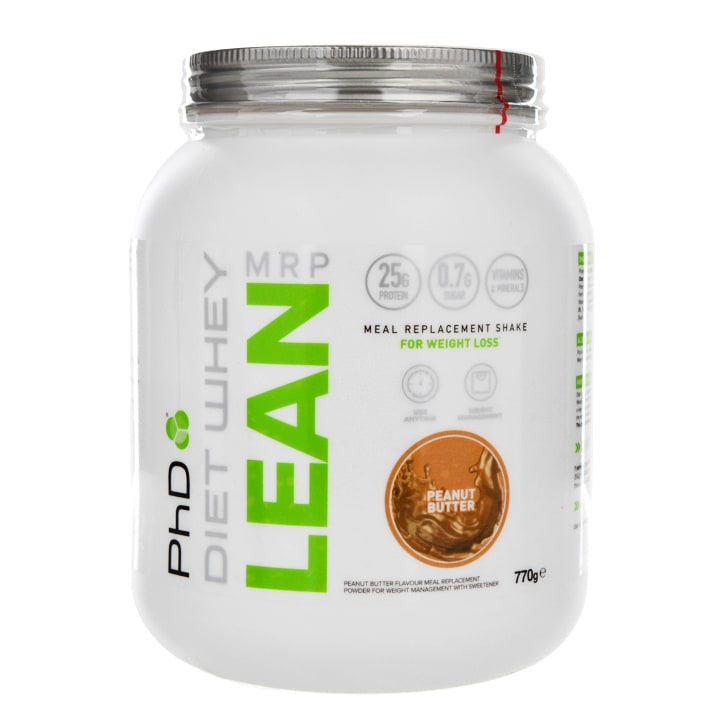 PhD Nutrition Diet Whey Lean Meal Replacement Shake Peanut Butter Flavour 770g