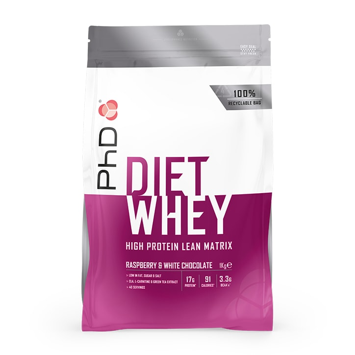 PhD Diet Whey White Chocolate & Raspberry 1000g
