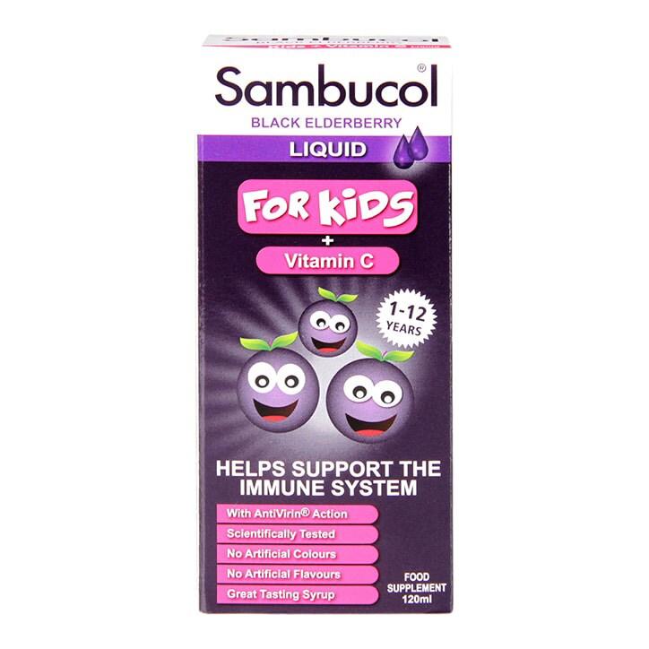 Sambucol Black Elderberry Liquid For Kids 120ml
