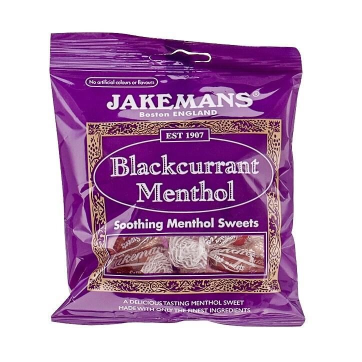 Jakemans Blackcurrant Soothing Menthol Sweets 100g Bag