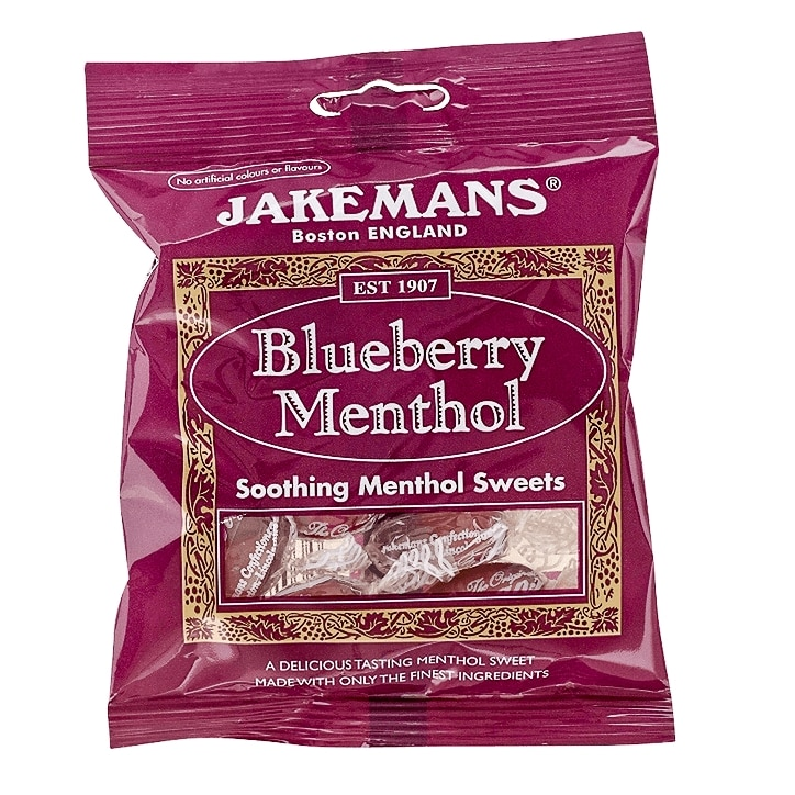 Jakemans Blueberry Soothing Menthol Sweets 100g Bag