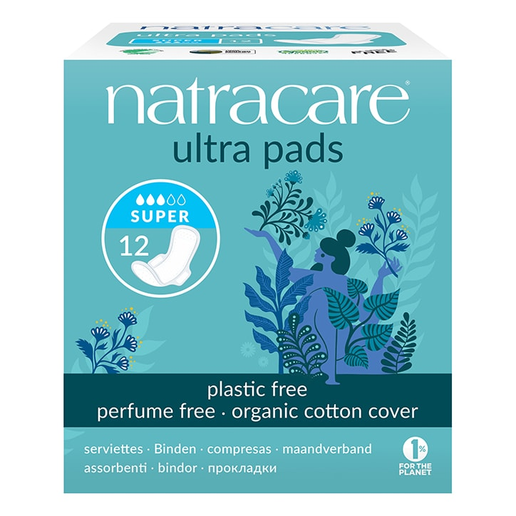 Natracare Natural Organic Ultra Pads with Wings 12 Super
