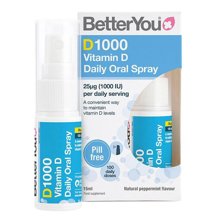 BetterYou DLux1000 Vitamin D Oral Spray 15ml