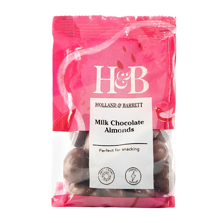 Holland & Barrett Milk Chocolate Coated Almonds 125g