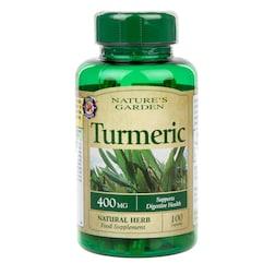 Nature's Garden Turmeric 400mg containing Curcumin 100 Capsules