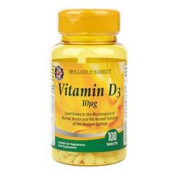 Holland & Barrett Vitamin D3 100 Tablets 10ug