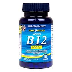 Holland & Barrett Timed Release Vitamin B12 100 Tablets 1000ug