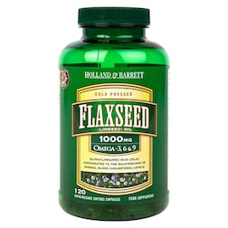 Holland & Barrett Flaxseed Linseed Oil 120 Capsules 1000mg