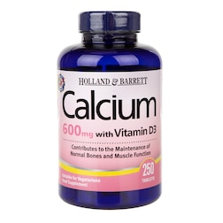 Holland & Barrett Calcium plus Vitamin D 250 Tablets