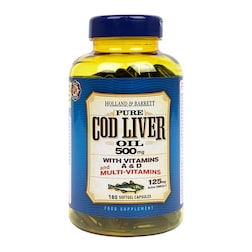 Holland & Barrett Cod Liver Oil with Multi Vitamins 180 Capsules 500mg