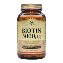 Solgar Biotin 5000µg 100 Vegi Capsules
