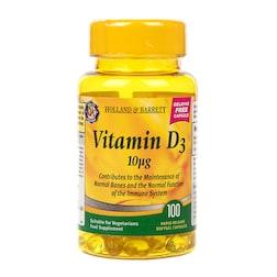 Holland & Barrett Vegetarian Vitamin D3 100 Capsules 400 I.U