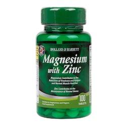 Holland & Barrett Magnesium with Zinc 100 Tablets