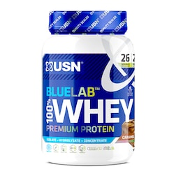 USN Blue Lab Whey Premium Protein Powder Chocolate Caramel 908g