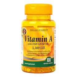 Holland & Barrett Vitamin A 3300 I.U Softgel 100 Softgel Capsules