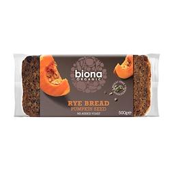 Biona Rye Pumpkinseed Bread 500g