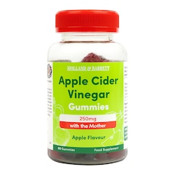 Holland & Barrett Apple Cider Vinegar 250mg with the Mother Apple Flavour 60 Gummies