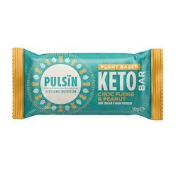 Pulsin Choc Fudge & Peanut Keto Bar (50 gram)